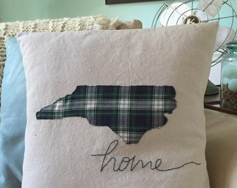 State pillow, North Carolina pillow, Farmhouse  pillow, Home pillow, state pride gift