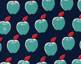 Fat Quarter Picnic Apples in Navy by Melody Miller for Cotton and Steel