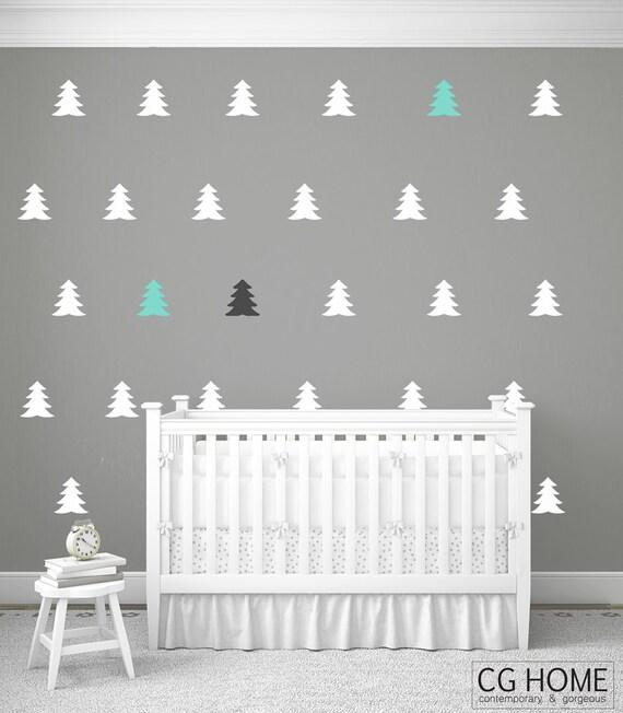 scandinavian Christmas TREE pattern Wall Decal vinyl sticker CGhome