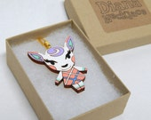 Animal Crossing Diana Laser Cut Wood Necklace