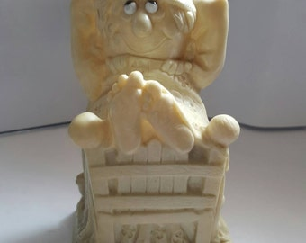 """Happiness is finding someone like you under my covers"""" collectible gift item, trophy, 1970's, gag gift, nostalgia"""