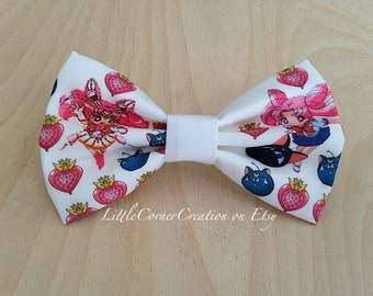 Sailor Moon Inspired Hair Bow.Chibiusa Bow. Adjustable Bow Tie.Wedding bow tie