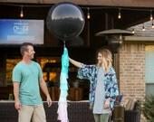 Gender Reveal Party Kit, Gender Reveal Garland, Gender Reveal Confetti, Gender Reveal Balloon, Black Giant Balloon, Confetti Balloon