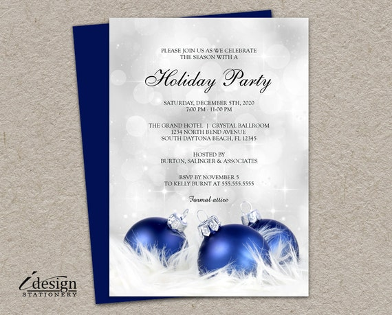 Items similar to Elegant Holiday Party Invitation DIY Printable – Elegant Holiday Party Invitations