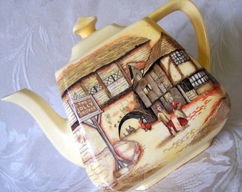 L & Sons Hanley The Jolly Drover Teapot