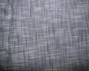 CLEARANCE - Yarn dyed dark grey cotton blend fabric - 150cm remnant