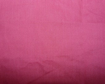 CLEARANCE - hot pink poly/cotton fabric - 100cm remnant