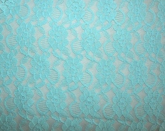 Fabric -Non- stretch lace - mint