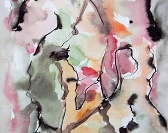 Abstract Ink and Watercolor Painting, Modern Painting, Modern Art, Contemporary Art