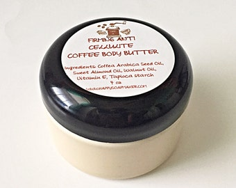 ANTI CELLULITE COFFEE Whipped Natural Body Butter, Natural body care, anti cellulite, Moisturizer, Natural skin care, spa, cellulite cream