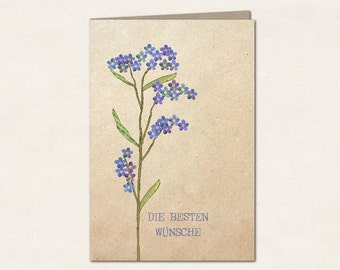 Best wishes - double card with envelope