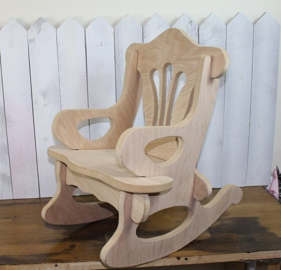 Items Similar To Rocking Chair Child S Puzzle Chair Wood