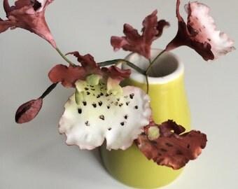 Sugar Flower Oncidium Orchid Spray, custom wedding cake topper