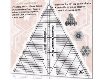 "Template - 10"" 60 Degree Triangle by Alicia's Attic (CTP16151) Acrylic Ruler"