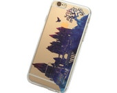 Hogwarts at Twilight iPhone Case - Your choice of Soft Plastic (TPU) or Wood