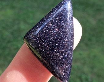 Purple Goldstone Cabochon