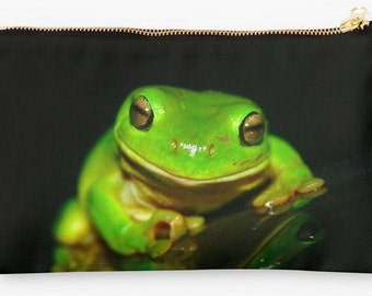 Kermit D. Frog Pouch/ Purse available in Small and Large Sizes