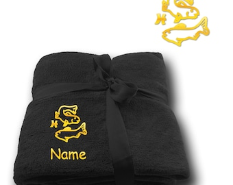 Blanket embroidered with Star sign Pisces  + Name