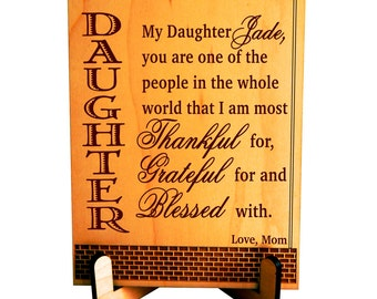 Personalized Gift for Daughter from Mom, Unusual Gift for Daughter Birthday, Gift to My Daughter from Dad, Mom Daughter Gift, PD001
