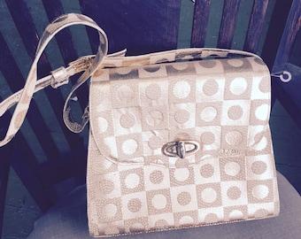 REDUCED! Rare Vintage Roberto Vasco gold and pink gold metallic handbag