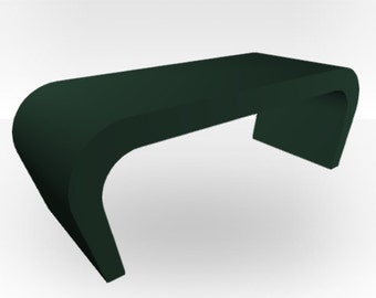 Olive Green Matt Coffee Table - Wedge