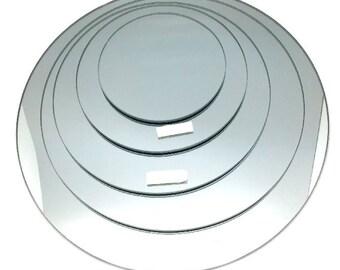 Round Mirror Base for Centerpiece, 1-Pack