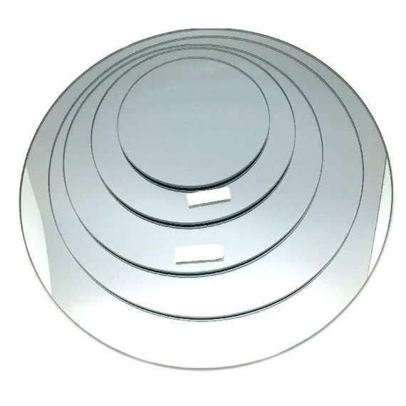 Round mirror base for centerpiece piece