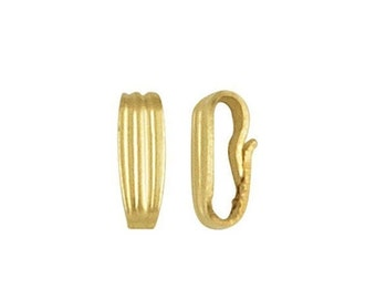 10% off Two (2) 14K Yellow Gold Filled 7mm x 2.5mm Snap On Pendant Bails