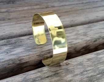 Hammered Brass Cuff Bracelet  | Customized Brass Cuff | Polished Brass Bracelet | Elegant Brass Cuff Bracelet | Choose Your Size
