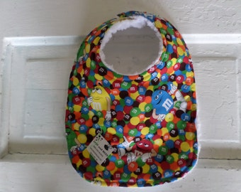 Adorable M & M's Baby Bib - FREE SHIPPING!!!!