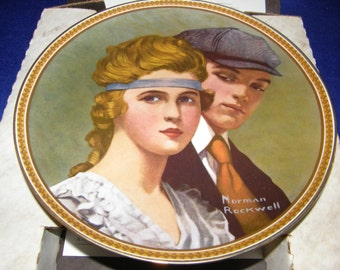 "Norman Rockwell ~ Rediscovered Women -""Meeting on the Path"" ~ Collector Plate"