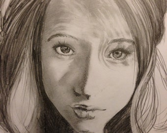 Hand-drawn Portrait - Custom Drawing: Hand-drawn portraits, Character  (send in a photo to be drawn)