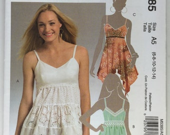 McCall's M5385 Misses' Tiered Sleeveless Top sizes 6,8,10,12,14 uncut