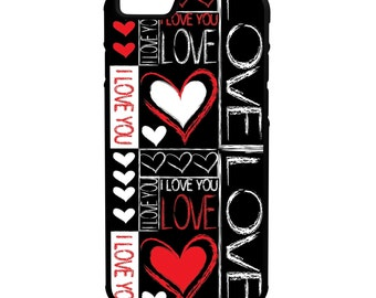 I Love You iPhone Galaxy Note LG HTC Hybrid Rubber Protective Case