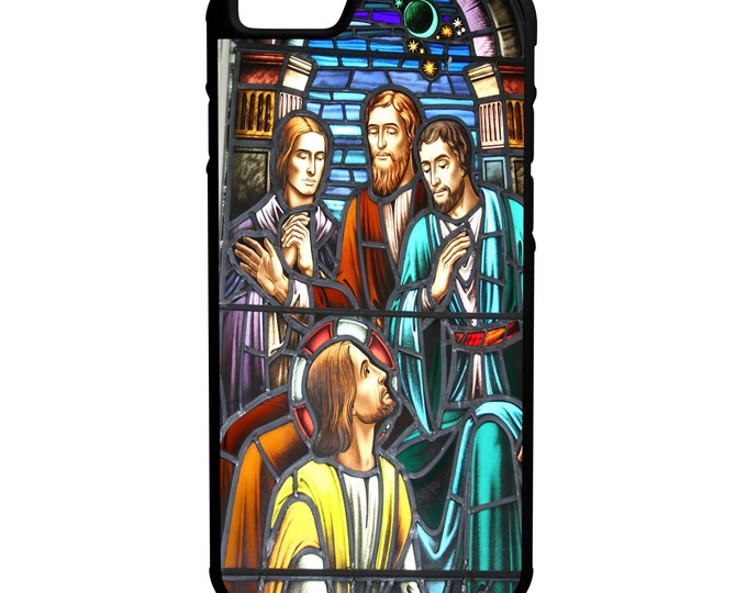 Jesus And Disciples Stained Glass Window iPhone Galaxy Note LG HTC Hybrid Rubber Protective Case Faith