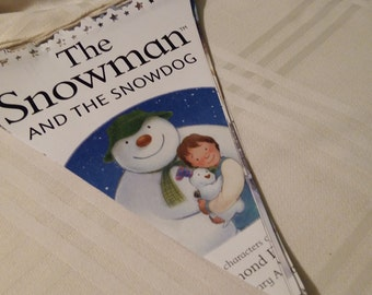 The Snowman and the Snowdog large book bunting