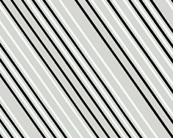 SALE Paper Obsessed - Airmail Stripe Greyscale - Heather Givans - Windham (41685-10)
