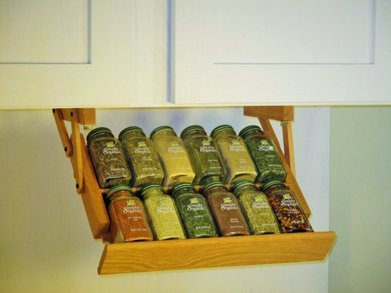 Under cabinet mini spice rack from ultimate kitchen storage for Under counter spice storage
