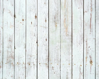 VintageLigth Blue Wood Planks Photo Backdrop, Newborns wood photography background, weathered painted wood photoshoot backdrops D-7603
