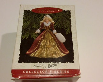 Hallmark Christmas ornament, holiday barbie