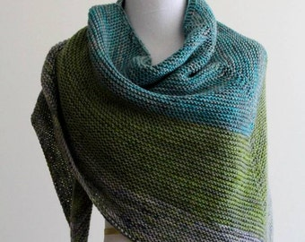 Knitting Pattern- knit shawl, knit scarf pattern, PDF Instant Download Knitting Pattern, NOT a finished product, make it yourself tutorial