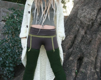 NEW  Enchanted Forest Long Leg warmers  Custom made
