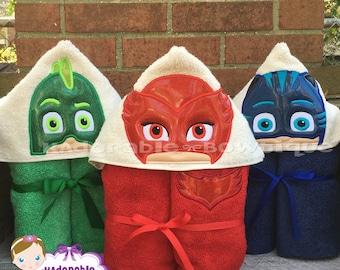 Bedtime Hero, Bedtime, Hero, Towel, Hooded Towel, Pool Towel, Beach Towel