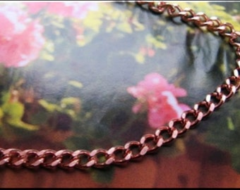 Solid Copper Chain Necklace CN622G - 3/16 of an inch wide- Available in 16, 18, 20, 22, 24 and 30 inch lengths.