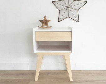 Table de chevet scandinave et vintage table de nuit for Table de nuit scandinave