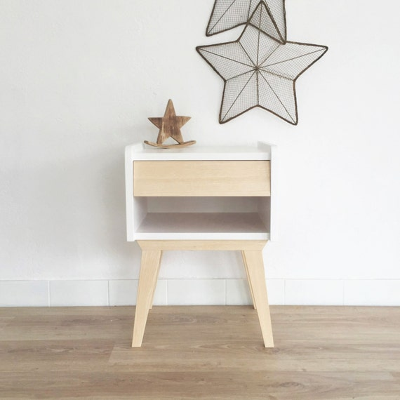 Table de chevet scandinave vintage table de nuit gu ridon - Table de nuit scandinave ...