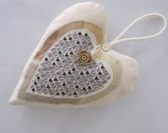 18th, 21st, 30th, 40th, 50th, 60th, 70th, 80th, 90th BIRTHDAY GIFT for HER - lavender filled hanging heart. Women's special birthday gift.