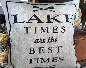 Lake pillow,Lake quotes,lake signs,lake decor,lake house, lake quotes,lake house gifts,welcome to the lake, lake decorations,lake house