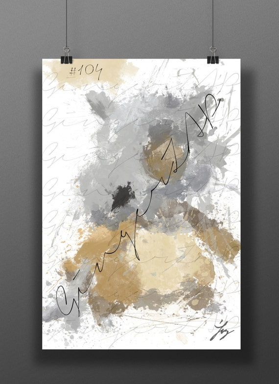 Lonely bone monster impressionist digital painting for Abstract impressionism definition