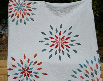 Handmade King or Super King size quilt or Bedspread